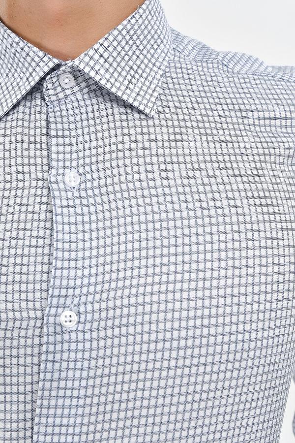 Kareli Klasik Lacivert Gömlek