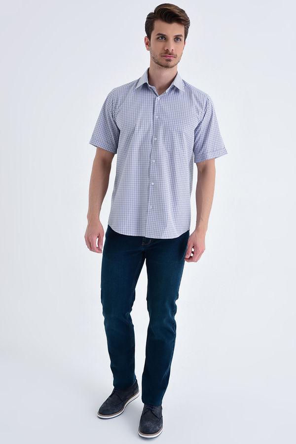 Hatemoğlu - Kareli Klasik Lacivert Gömlek (1)
