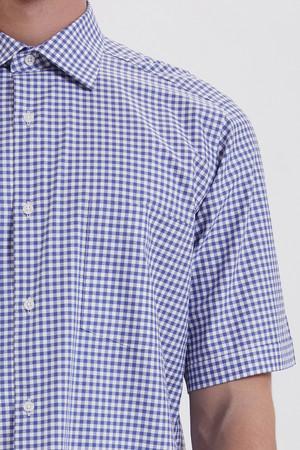 Kareli Klasik Mavi Gömlek - Thumbnail