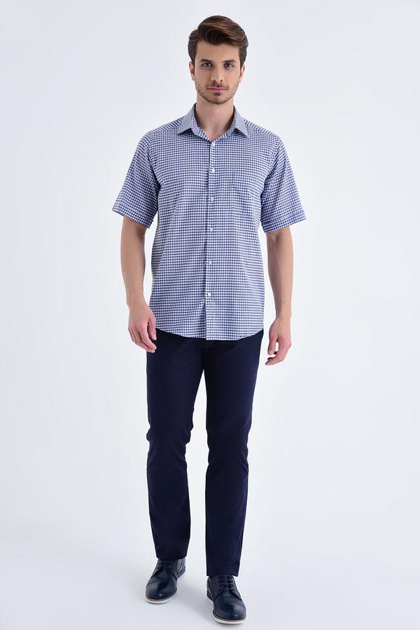 Hatemoğlu - Kareli Klasik Mavi Gömlek (1)