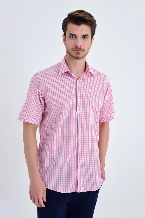 Hatemoğlu - Kareli Klasik Pembe Gömlek
