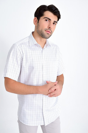 Hatemoğlu - Kareli Klasik Siyah Gömlek