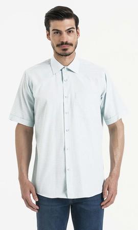 Hatemoğlu - Kareli Klasik Turkuaz Gömlek