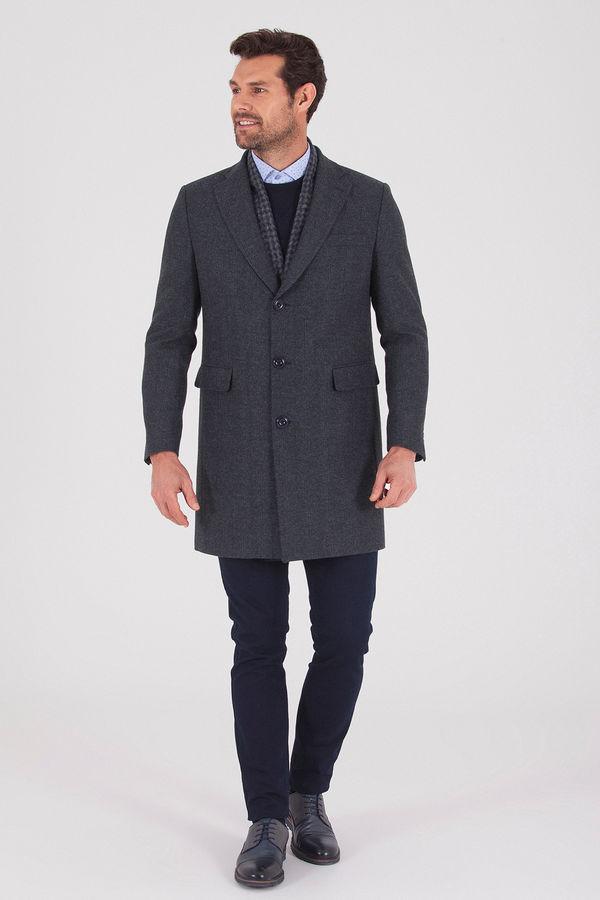 Hatemoğlu - Kareli Lacivert Palto (1)