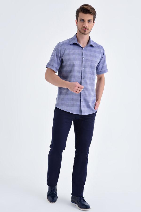 Hatemoğlu - Kareli Regular Lacivert Gömlek (1)
