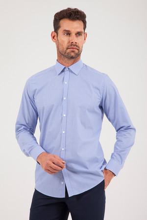 Hatem Saykı - Kareli Regular Lacivert Gömlek