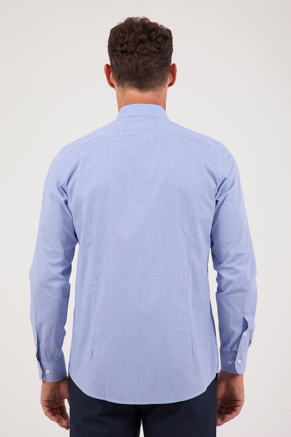 Kareli Regular Lacivert Gömlek