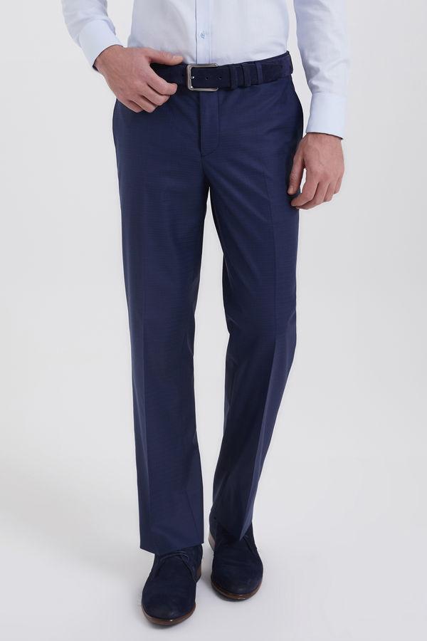 Hatemoğlu - Kareli Regular Lacivert Pantolon