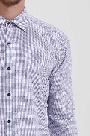 Kareli Regular Mavi Gömlek - Thumbnail