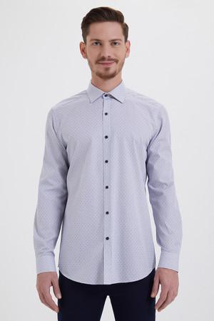 Hatem Saykı - Kareli Regular Mavi Gömlek