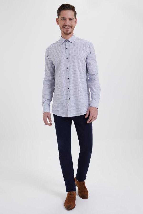 Hatem Saykı - Kareli Regular Mavi Gömlek (1)