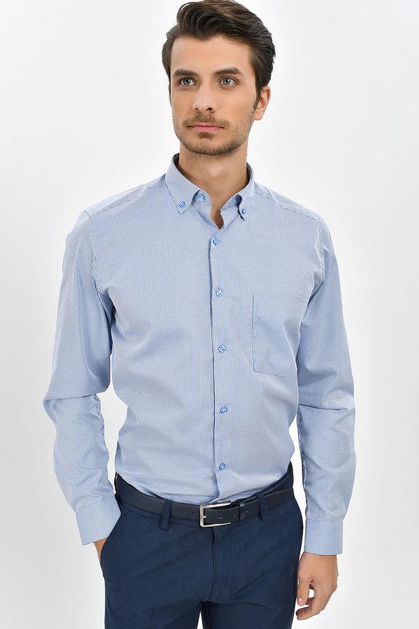 Kareli Regular Mavi Gömlek