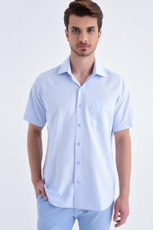 Hatemoğlu - Kareli Regular Mavi Gömlek