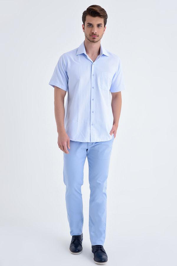 Hatemoğlu - Kareli Regular Mavi Gömlek (1)