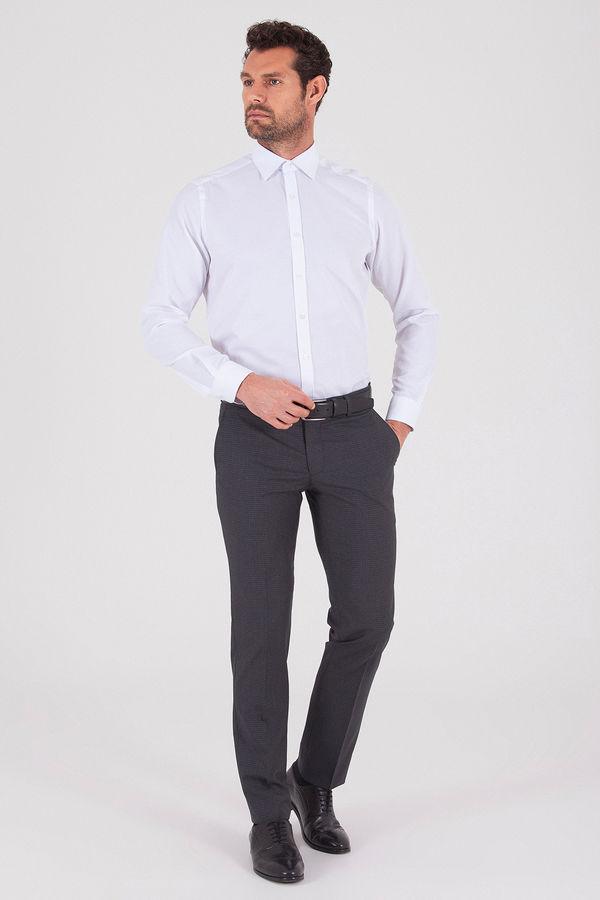 Hatem Saykı - Kareli Slim Fit Antrasit Pantolon (1)