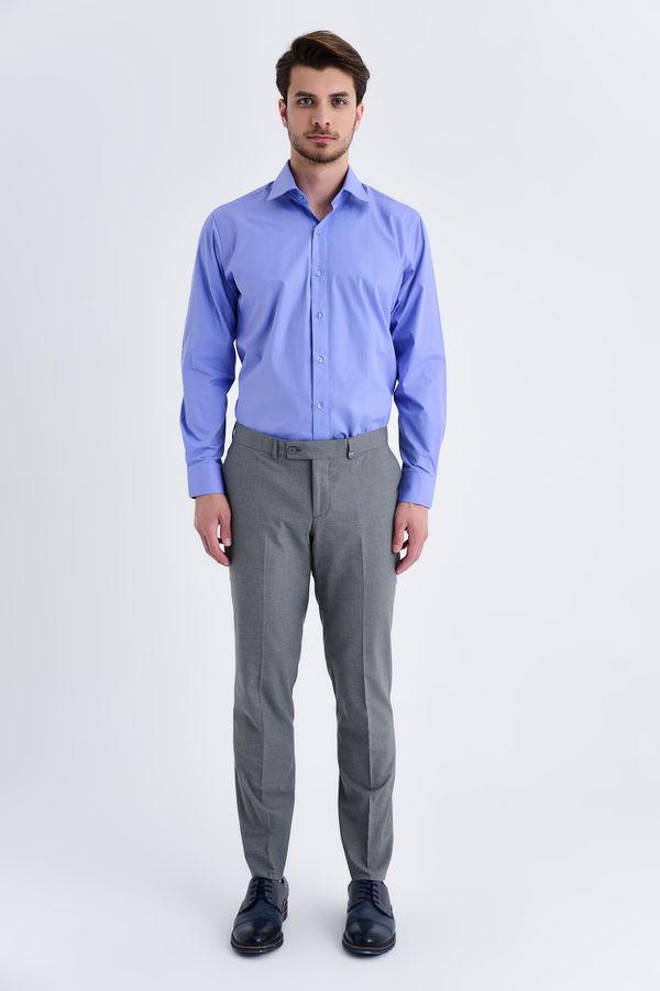 Hatemoğlu - Kareli Slim Fit Gri Pantolon (1)