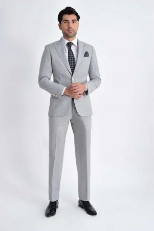 Hatem Saykı - Açık Gri Slim Fit Takım Elbise