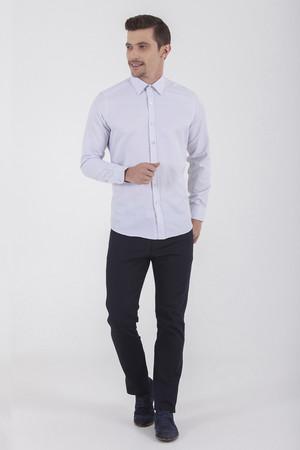 Hatemoğlu - Kareli Slim Fit Beyaz Gömlek (1)
