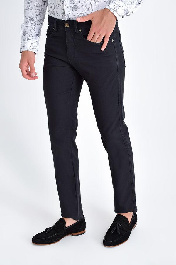 HATEMOĞLU - Gri Desenli Regular Pantolon