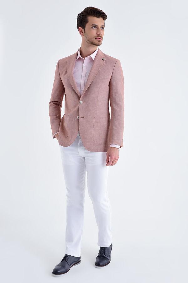 HATEM SAYKI - Kiremit D. Desenli Slim Fit Ceket (1)