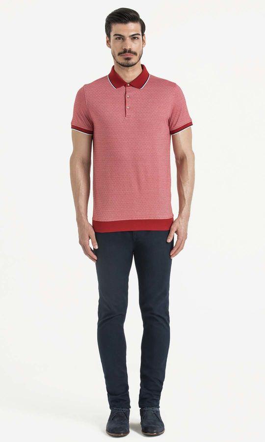 HATEM SAYKI - Kirmizi - Beyaz - Baskılı Regular T-shirt (1)
