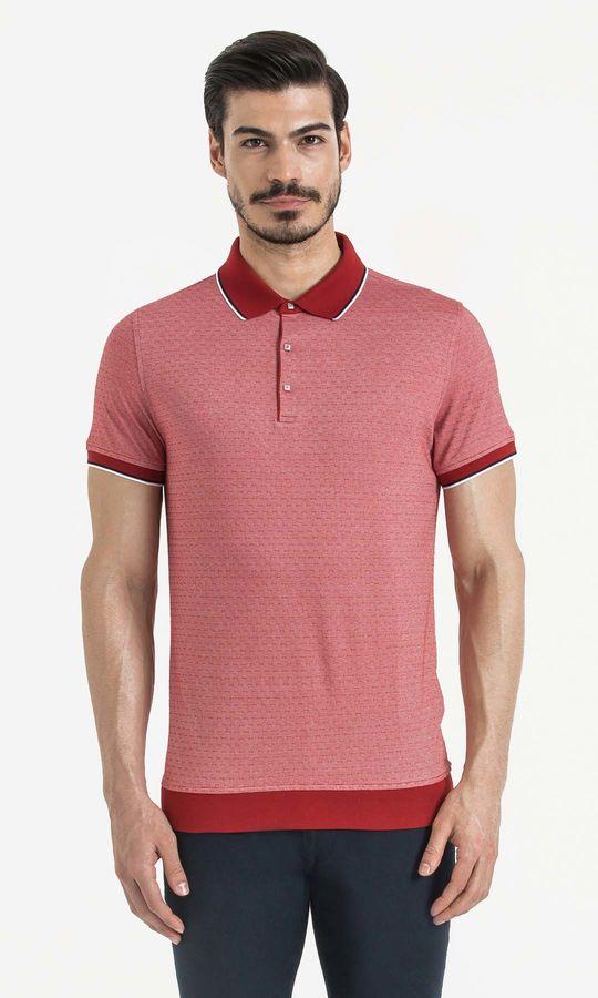 HATEM SAYKI - Kirmizi - Beyaz - Baskılı Regular T-shirt