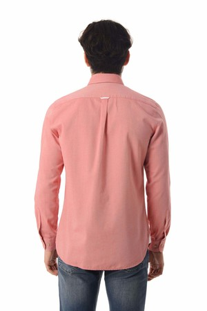 Kırmızı Slim Fit Gömlek - Thumbnail