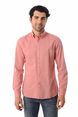 HTML - Kırmızı Slim Fit Gömlek
