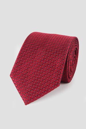 Hatemoğlu - Kırmızı Desenli Kravat