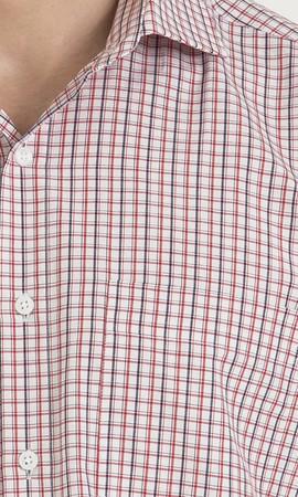 Kareli Klasik Kırmızı Gömlek - Thumbnail