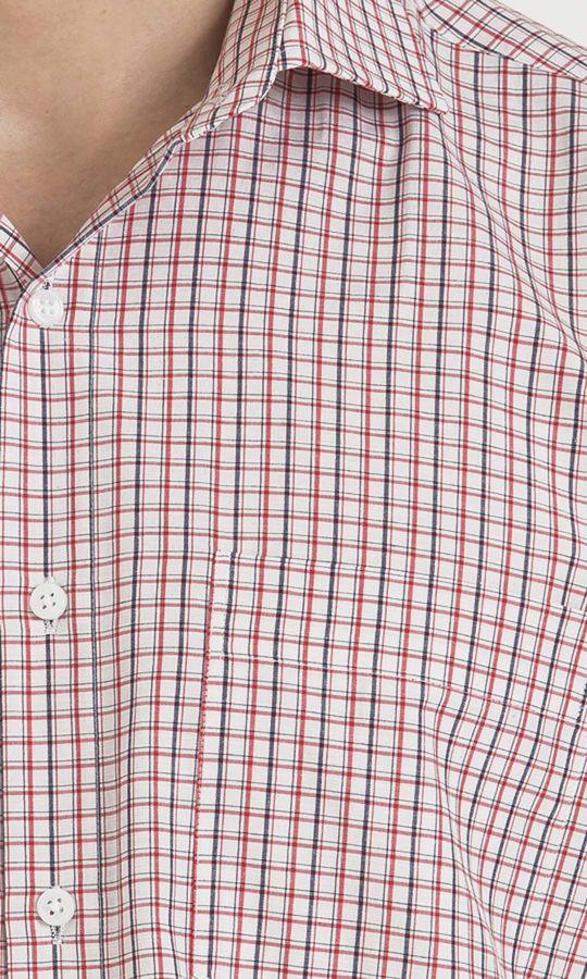 Kareli Klasik Kırmızı Gömlek