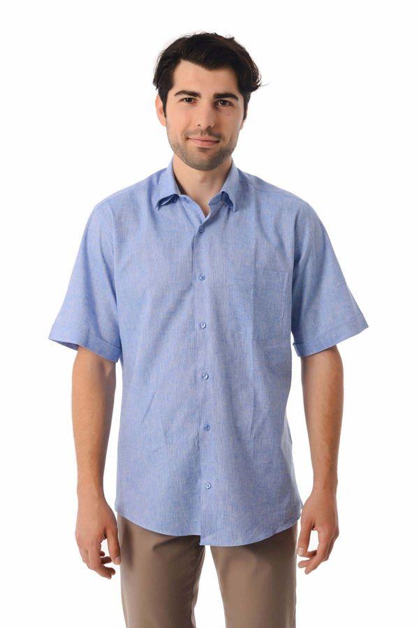 Hatemoğlu - Kısa Kol Mavi Gömlek