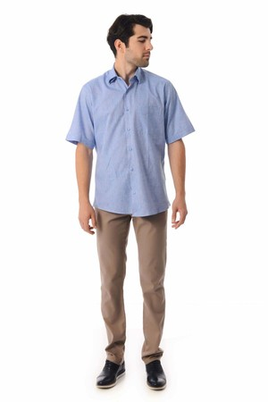 Hatemoğlu - Kısa Kol Mavi Gömlek (1)