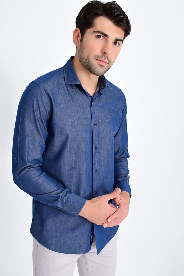 HTML - Lacivert Slim Fit Gömlek