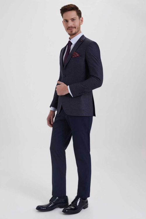 HTML - Lacivert Slim Fit Takım Elbise (1)