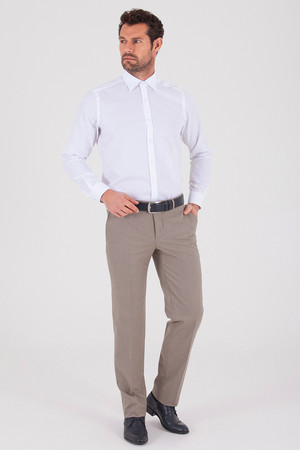 Hatemoğlu - Bej Klasik Fit Kumaş Pantolon (1)