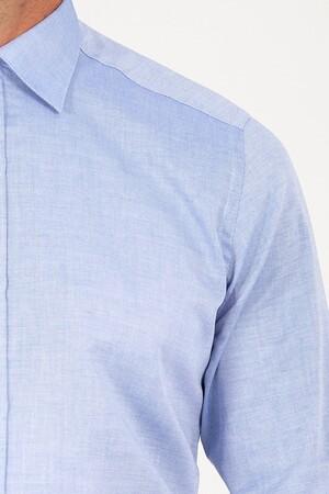 Regular Fit Mavi Gömlek - Thumbnail