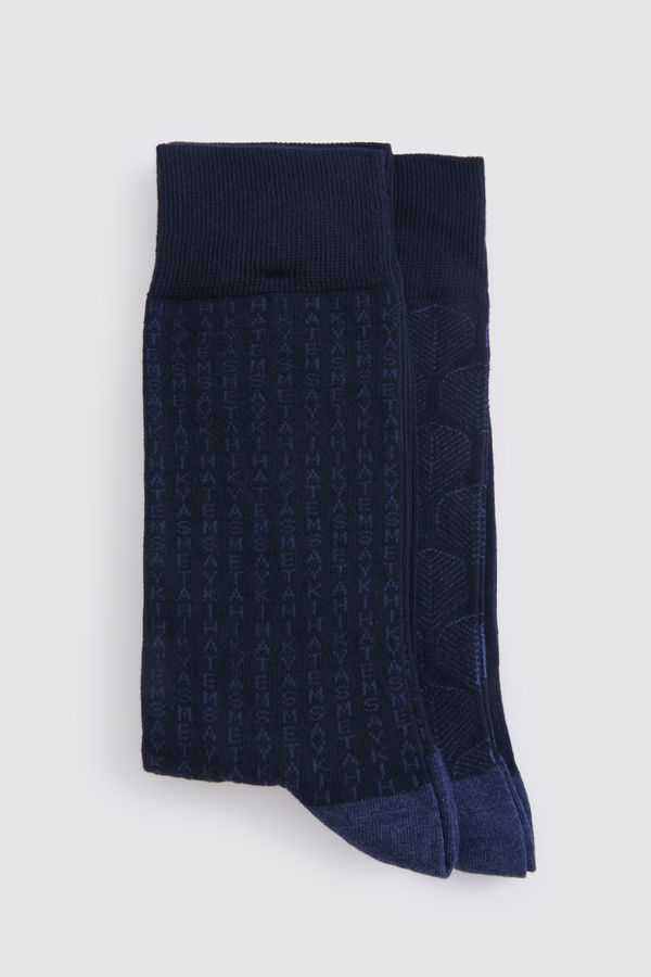Lacivert 2'li Çorap