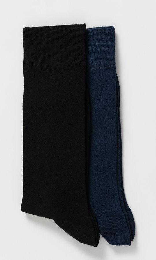 Hatem Saykı - Lacivert 2'li Çorap