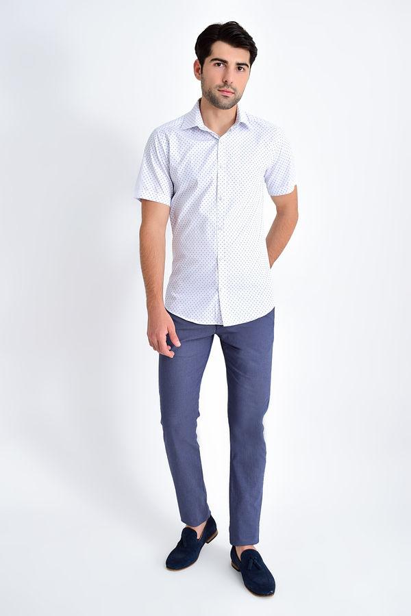 HATEMOĞLU - Lacivert Baskılı Slim Fit Gömlek (1)