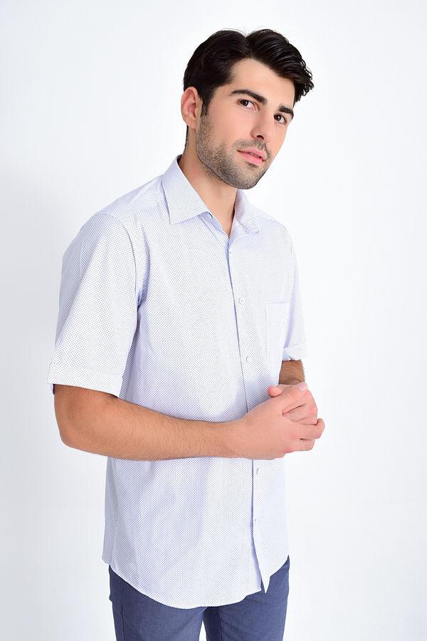 HATEMOĞLU - Lacivert B1 Baskılı Klasik Gömlek