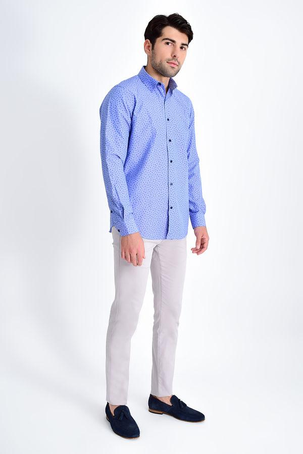 Hatemoğlu - Lacivert Baskılı Regular Gömlek (1)