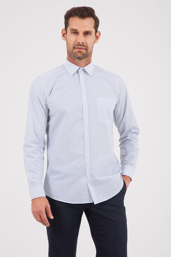 HATEMOĞLU - Lacivert B1 Baskılı Regular Gömlek