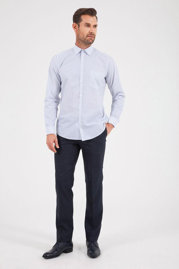 HATEMOĞLU - Lacivert B1 Baskılı Regular Gömlek (1)