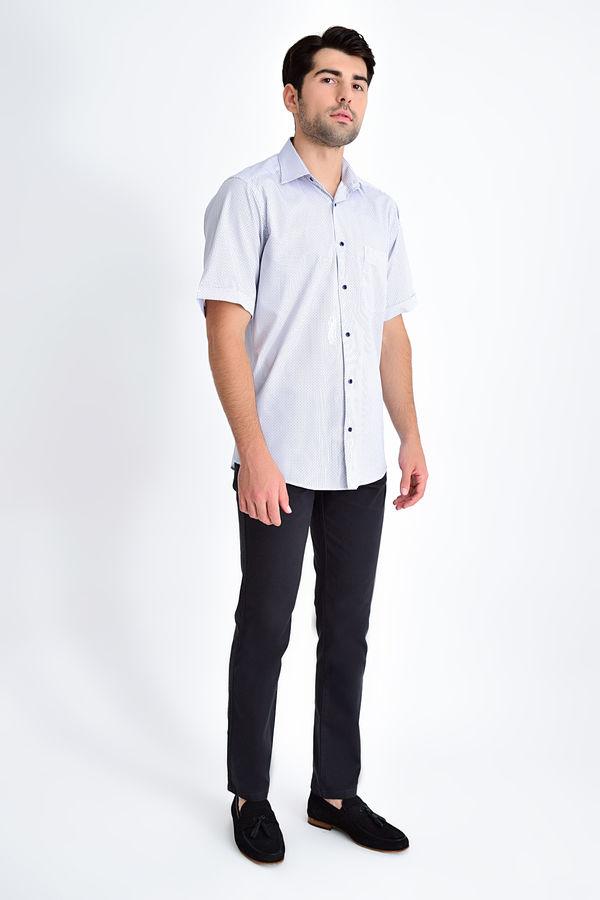 HATEMOĞLU - Lacivert B2 Baskılı Klasik Gömlek (1)