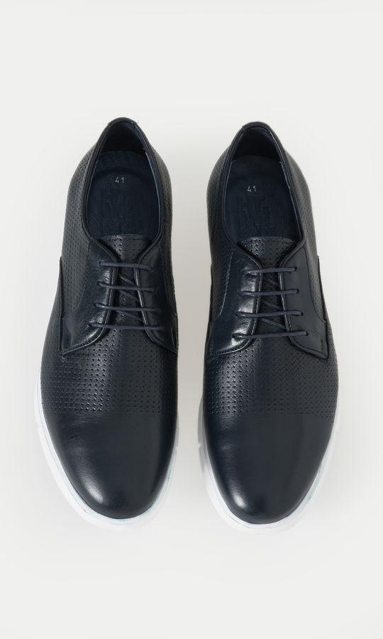 Hakiki Deri Lacivert Günlük Ayakkabı
