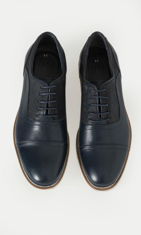 Hatem Saykı - Hakiki Deri Lacivert Günlük Ayakkabı (1)