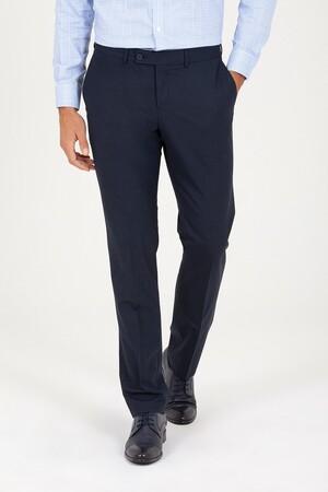 Hatem Saykı - Lacivert Slim Fit Kumaş Pantolon