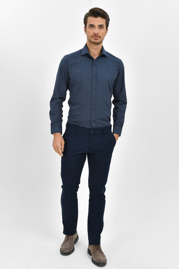 HTML - Lacivert Slim Fit Pantolon (1)