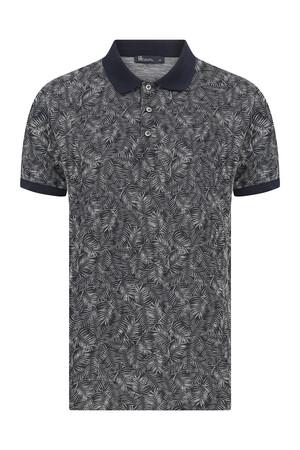 HTML - Lacivert Baskılı Polo Yaka Tişört